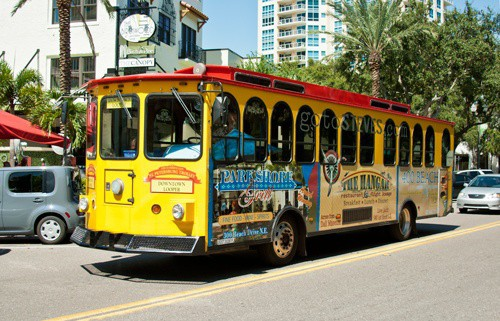 Trolley for Tropicana Field