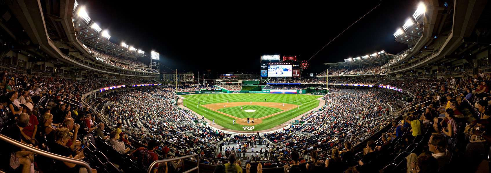 Night Panorama at Nationals Park