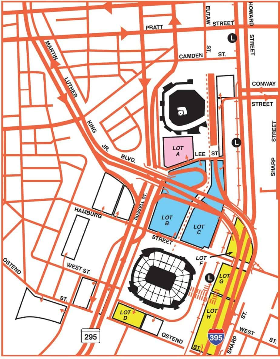 Orioles Parking Map Orioles Park Guide – Where to Park, Eat, and Get Cheap Tickets