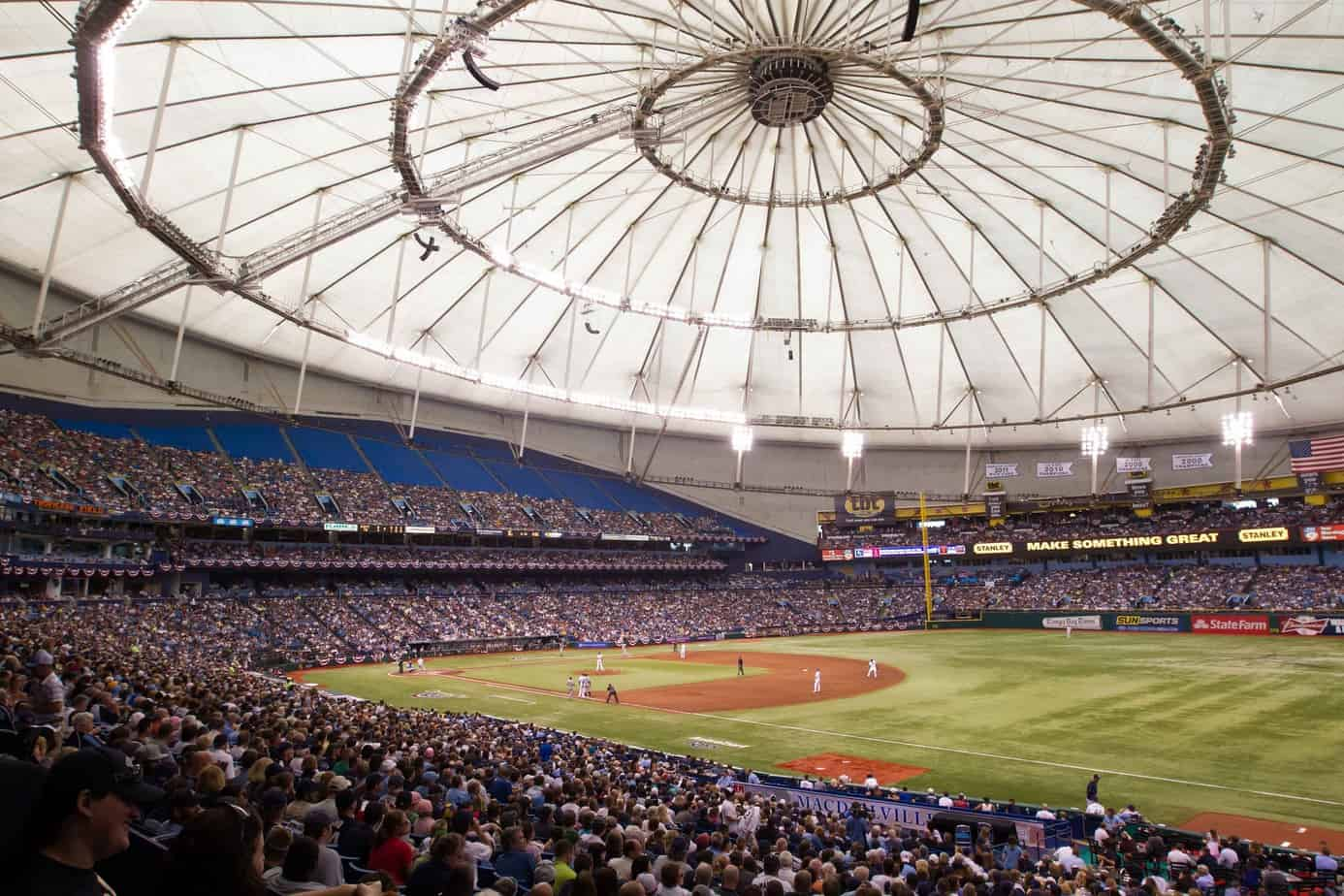 Roof of Tropicana Field