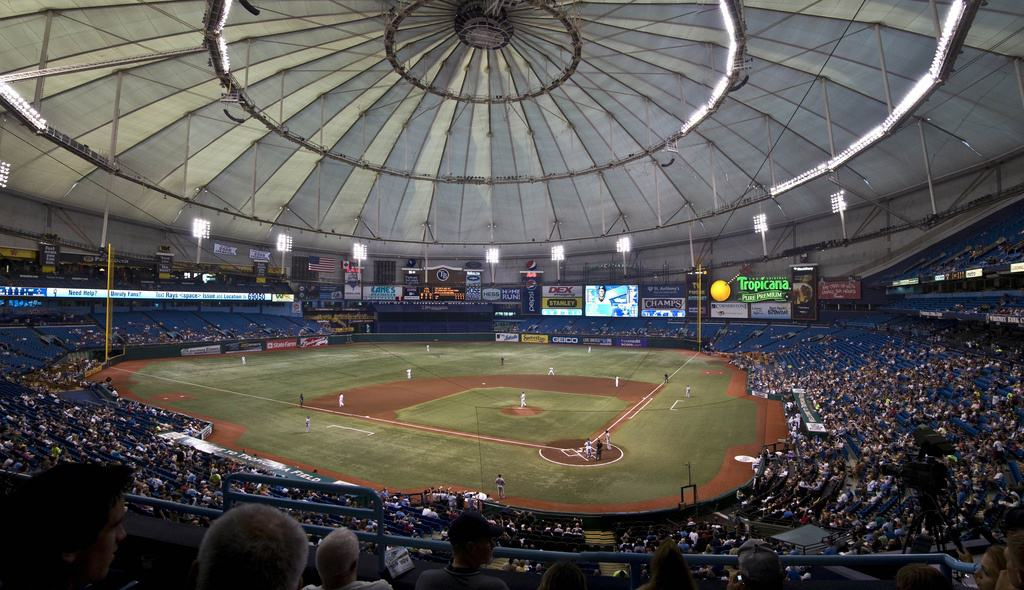 Seats at Tropicana Field