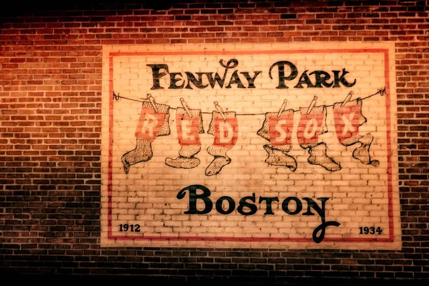 Brick Mural at Fenway Park