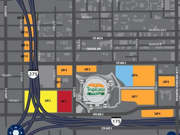 Parking Map for Tropicana Field