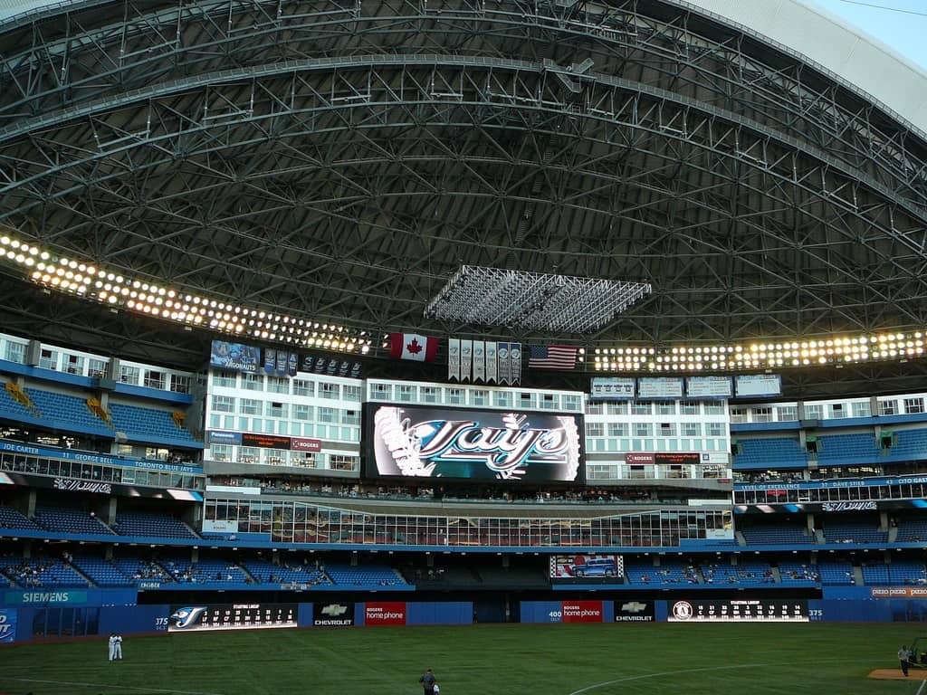 Scoreboard at Rogers Centre