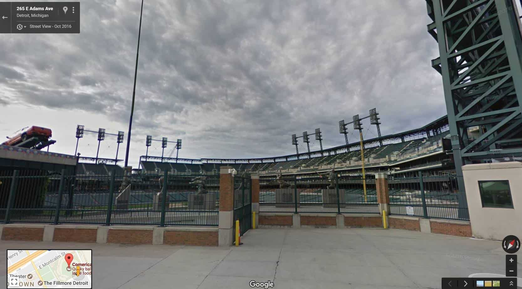 Adams Street View of Comerica Park