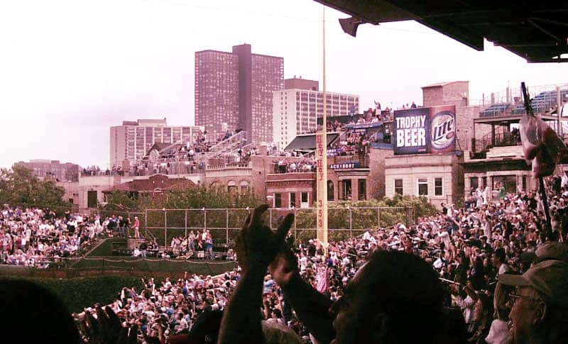 Bleachers at Wrigley Field