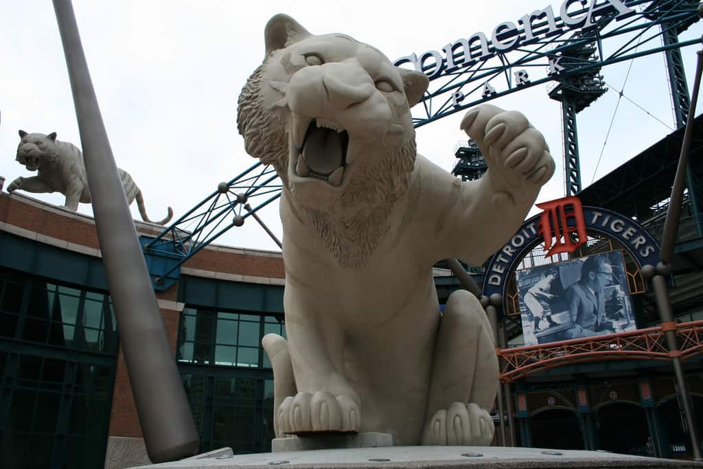 Tiger at Main Gate of Comerica Park