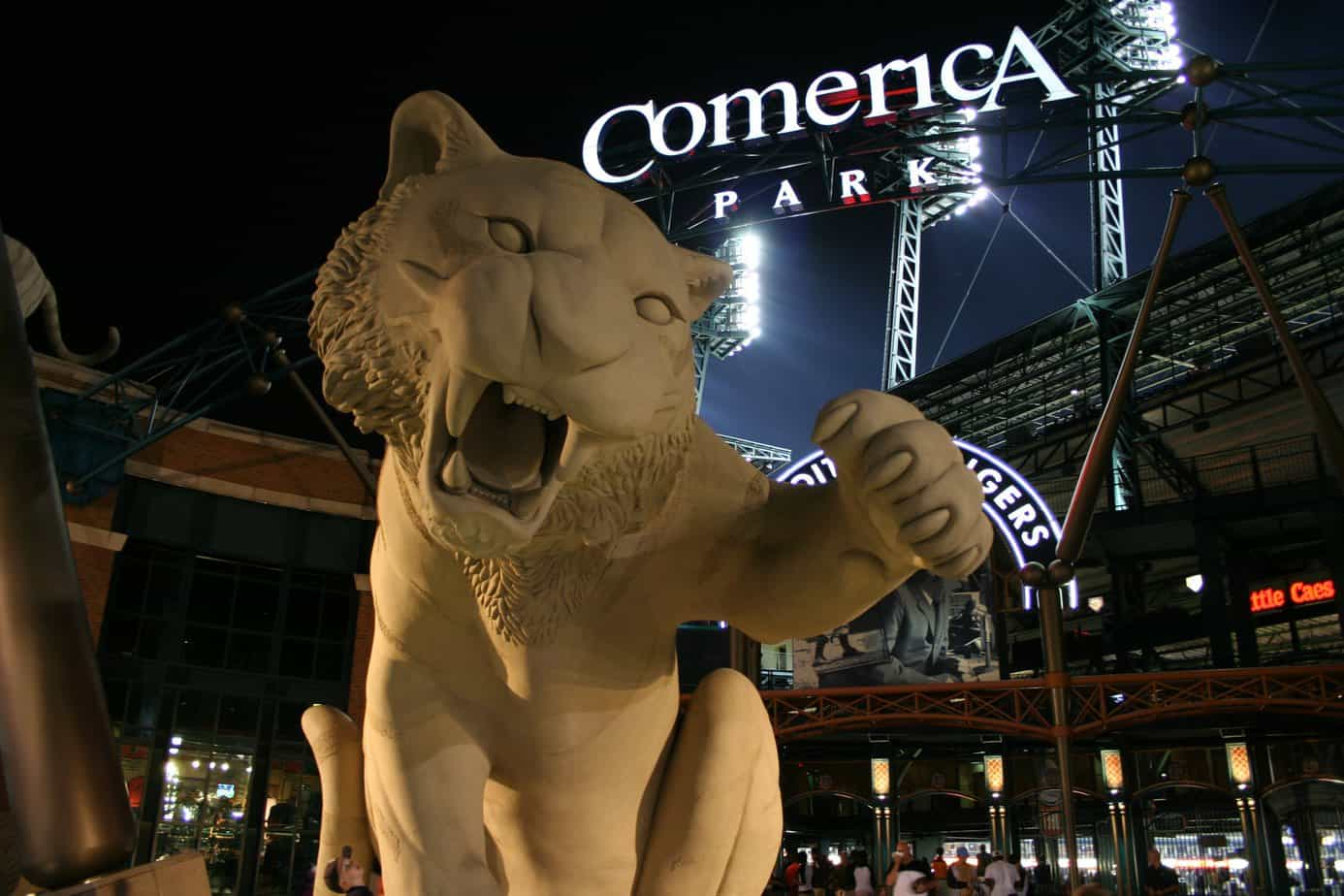 Night at Comerica Park