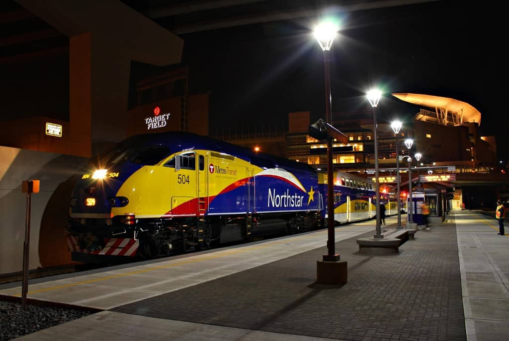 Northstar Train near Target Field
