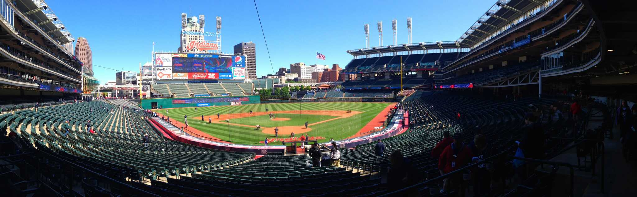 SCoreboard Panorama at Progressive Field