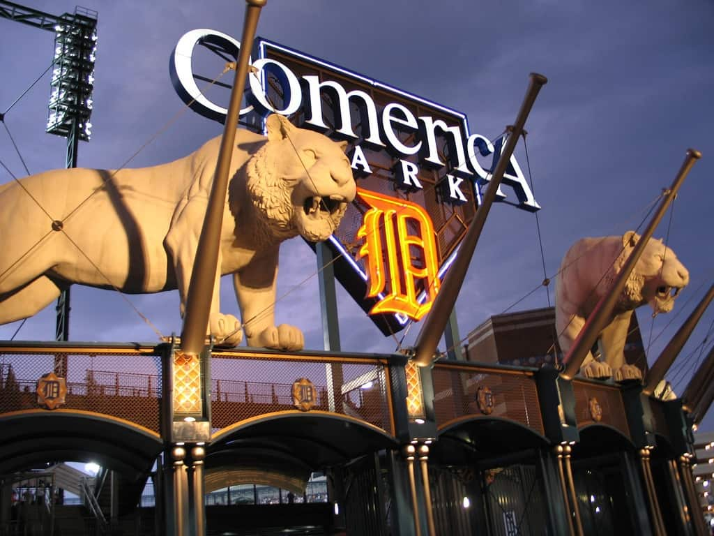 Tigers at Comerica Park