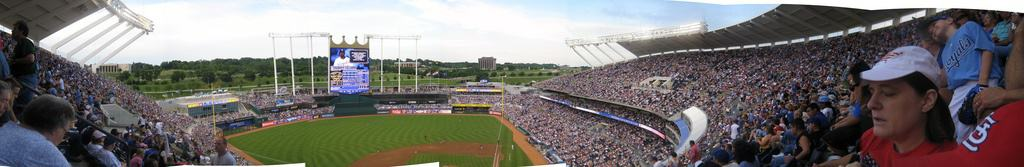 Panorama of Kauffman Stadium