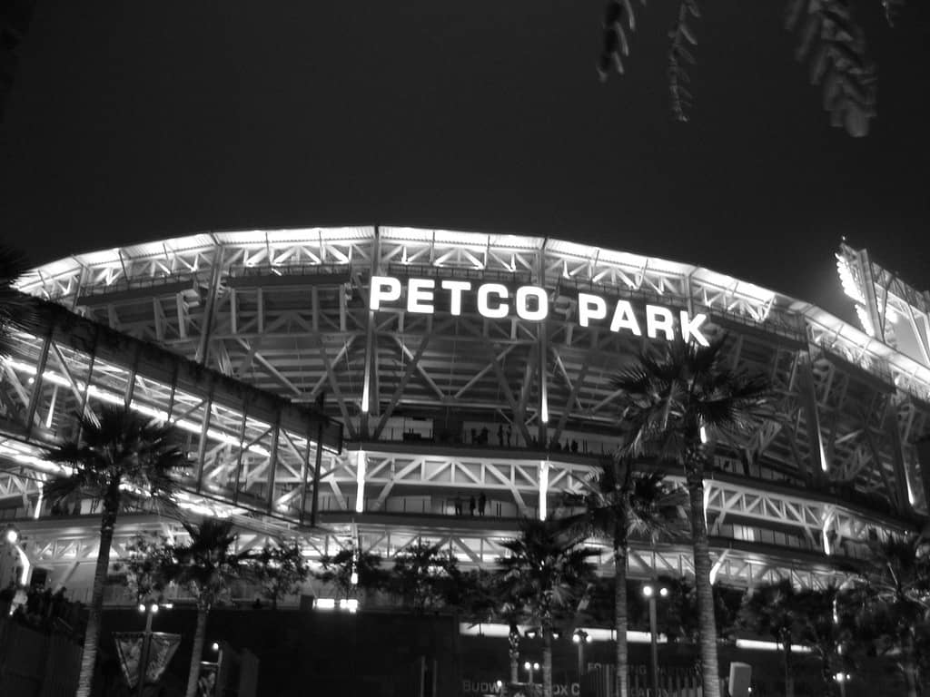 Night Exterior of Petco Park